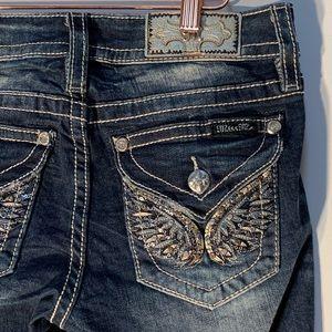 MISS ME Boot Stretch Jeans M3080B Dark blue